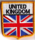 Great Britain Union Jack Embroidered Flag Patch, style 06.